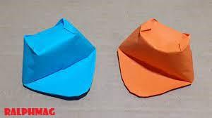 Cara Membuat Origami Kertas Lipat yang Berbentuk Topi