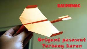 Membuat Origami Pesawat Terbang Dengan Sangat Cepat