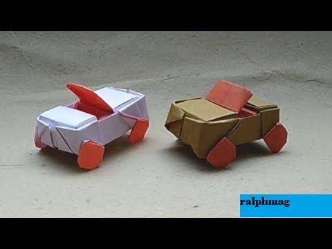 Cara Membuat Origami Mobil