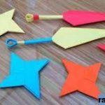 Cara Membuat Senjata Ninja Origami