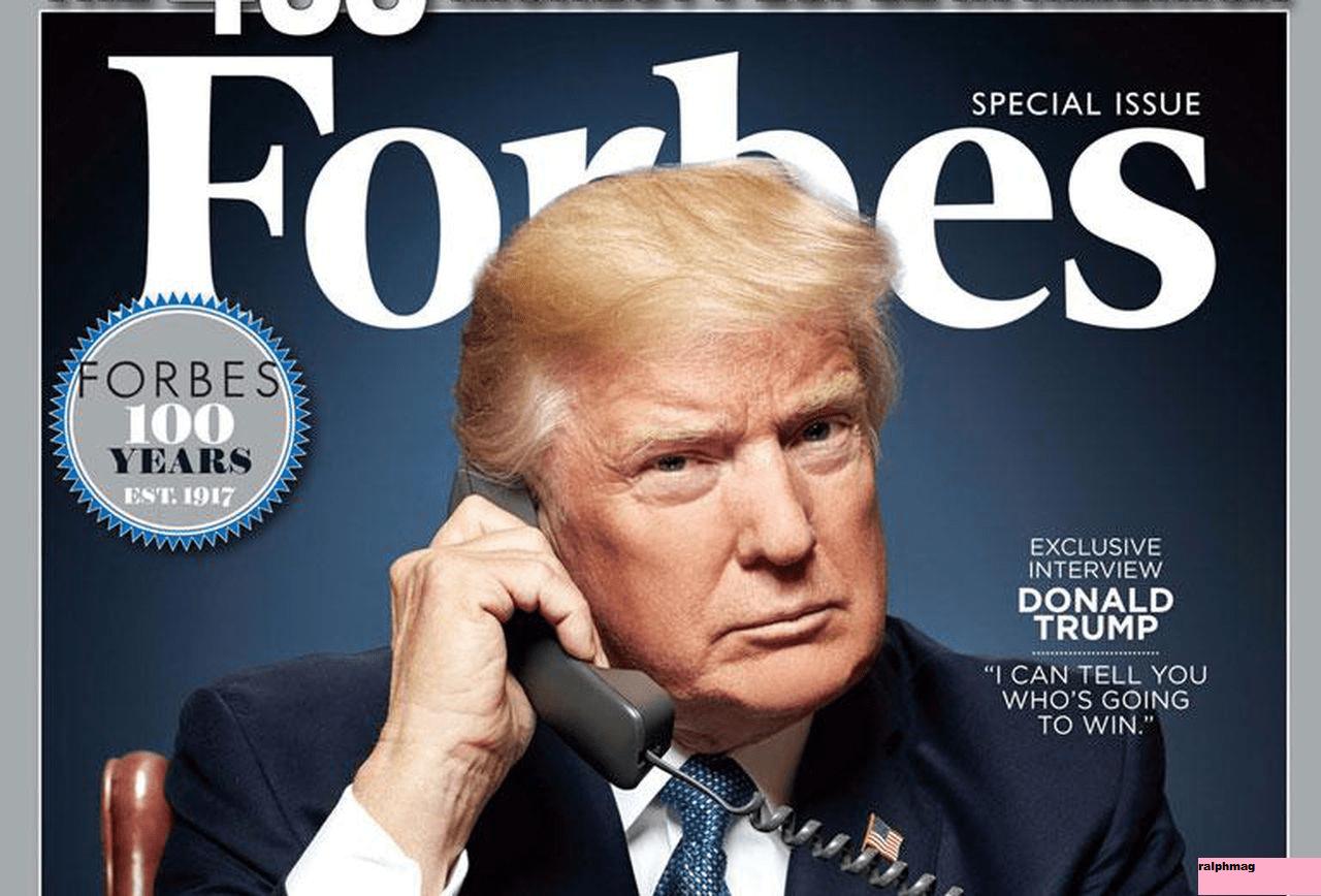 Sejarah Panjang Majalah Online Forbes dengan Donald Trump