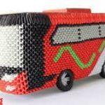 Cara Dalam Membuat Origami Bus 3D
