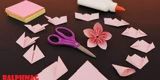 Cara Dalam Membuat Bunga Sakura Origami