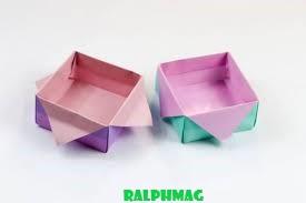 Berikut ini Cara Membuat Kotak Origami Untuk Tempat Sampah