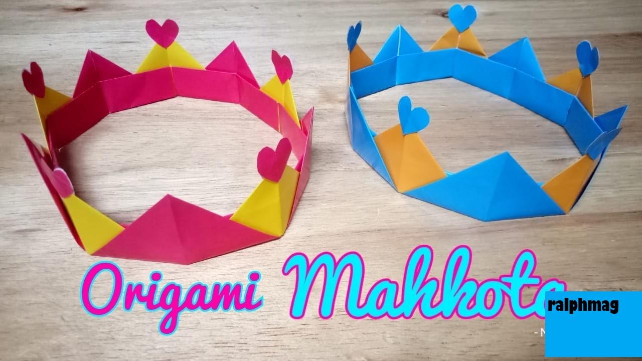 Cara Membuat Mahkota Kertas Origami