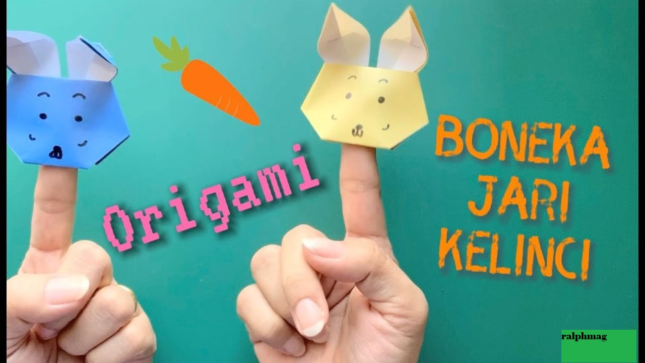 Membuat Boneka Jari & Anak Anjing Origami Lucu